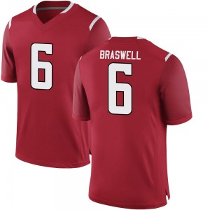 Christian Braswell Nike Rutgers Scarlet Knights Youth Replica Football College Jersey - Scarlet