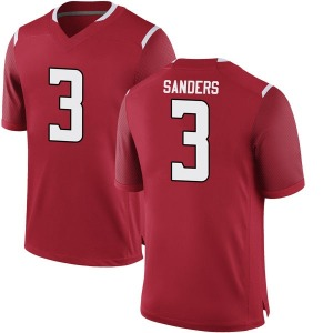 Corey Sanders Nike Rutgers Scarlet Knights Youth Game Football College Jersey - Scarlet