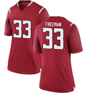 Deshawn Freeman Nike Rutgers Scarlet Knights Women's Game Football College Jersey - Scarlet