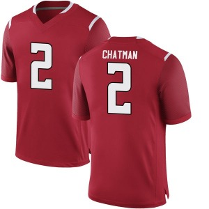 Jalen Chatman Nike Rutgers Scarlet Knights Youth Game Football College Jersey - Scarlet