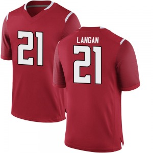 Johnny Langan Nike Rutgers Scarlet Knights Youth Game Football College Jersey - Scarlet