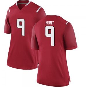 Monterio Hunt Nike Rutgers Scarlet Knights Women's Replica Football College Jersey - Scarlet