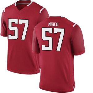 Zach Miseo Nike Rutgers Scarlet Knights Youth Game Football College Jersey - Scarlet