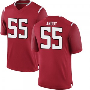 Zaire Angoy Nike Rutgers Scarlet Knights Youth Game Football College Jersey - Scarlet