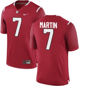 Robert Martin Nike Rutgers Scarlet Knights Men's Authentic Team Color Jersey  -  Scarlet
